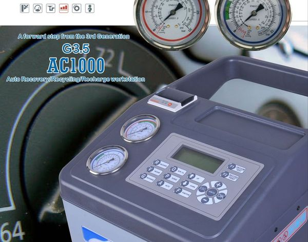 ST-AC1000 Air Condition Service Station ( refrigerant recovering/recycling/recharging )