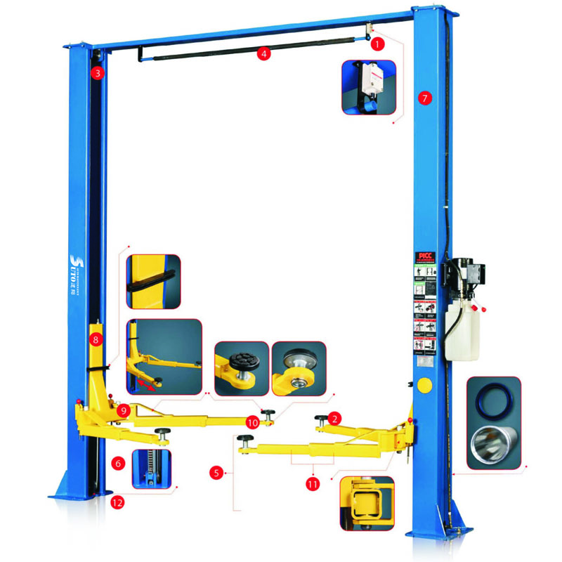 Auto Lifts ST-2D-40 Overhead Style Two Post Car Lift 8800lbs