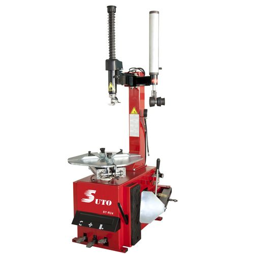 ST-R24 Pneumatic tire changer with right helper arm, semi-automatic swing type