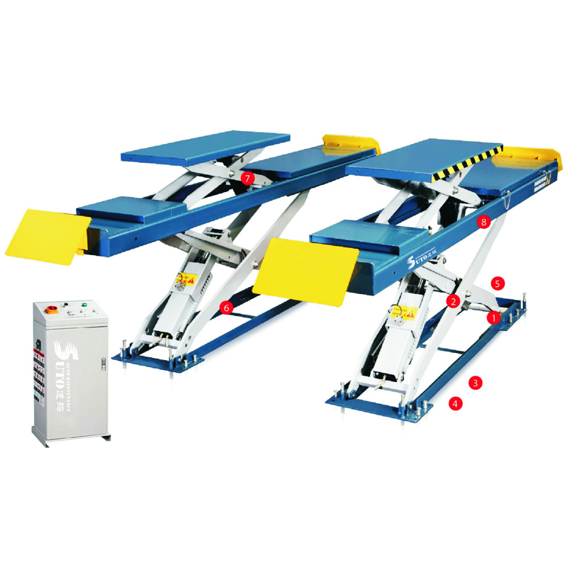 ST-DJ-2P35/40 Scissor Vehicle Lift 7700/8800 lbs